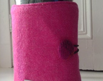 Pink Harris Tweed thermal lined large French Coffee Press Cover