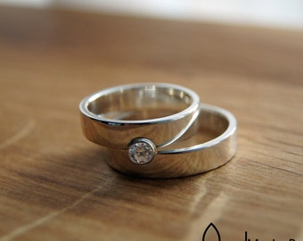 we perfect fit together wedding /  friendship rings