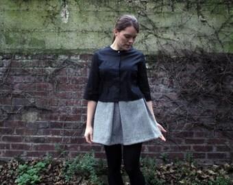 mini skirt wool