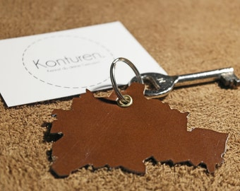 Berlin keychains - key chain, leather, Brown