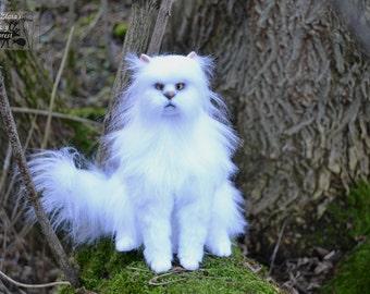 OOAK Hand Made soft sculpture Cat Snow  Animals sculpture, Textile Taxidermy, art animal