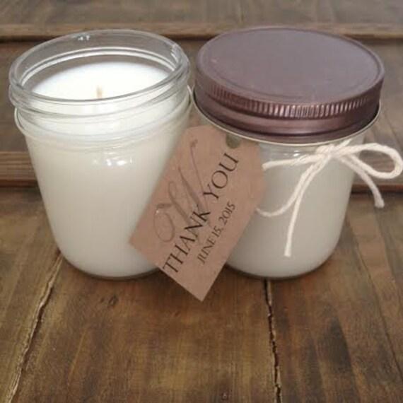 Custom Candle Favors 8 Ounce Mason Jar Soy Candles By Nywicks