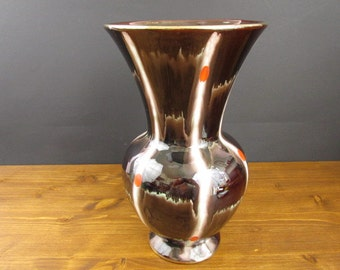 Vase Slip Glazed Jasba Keramik Pottery Design 595-30  1950s Vintage West German Pottery