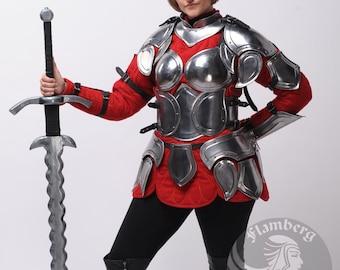 """Larp, Female Armor ,Fantasy, Elf, Elven Costume """"Flamberg"""" steel  armor for women: bust"""