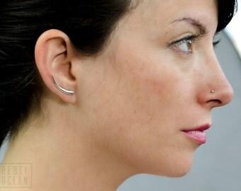 Sterling Silver Ear Cuff Moon Shine Ear Sweep Pin Earrings Boho Jewelry - FES007 T2