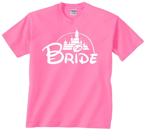 Bride disney castle t shirt tshirt tee matching bridal party for Sprüche t shirt junggesellinnenabschied