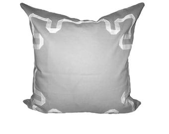 Greek Key Pillow Cover ~ Gray ~ 20x20
