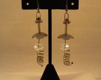 Steampunk Lamp Earrings