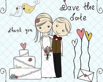 Bride groom clipart – Etsy