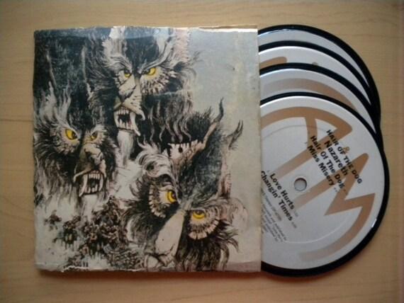Nazareth Vinyl Record Coaster Set With Sleeve Upcycled
