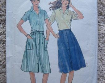 UNCUT Misses Skirt - Butterick Sewing Pattern 3674 - Size 10, 12, 14 - Vintage 1970's