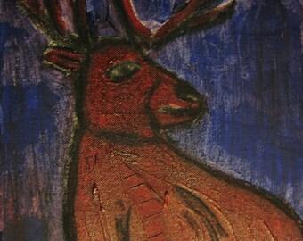 deer - acrylic painting
