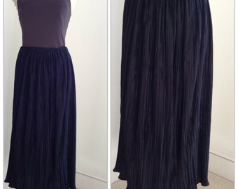 Vintage Pleated, Maxi Skirt
