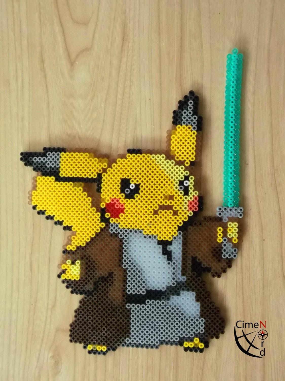 Pikachu jedi perler beads for How to make online art