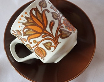J & G Meakin Studio Lotus Cup and Saucer