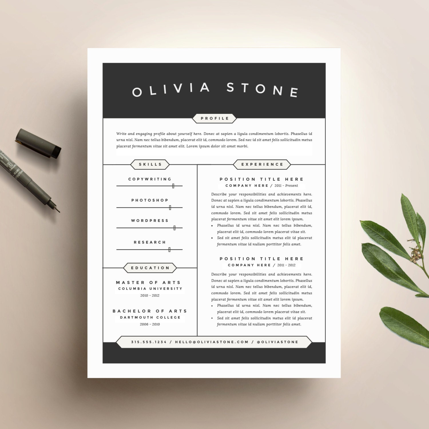 Free Sample Resume Template Cover Letter And Resume Writing Tips Free  Sample Resume Template Cover Letter  Modern Resume Tips