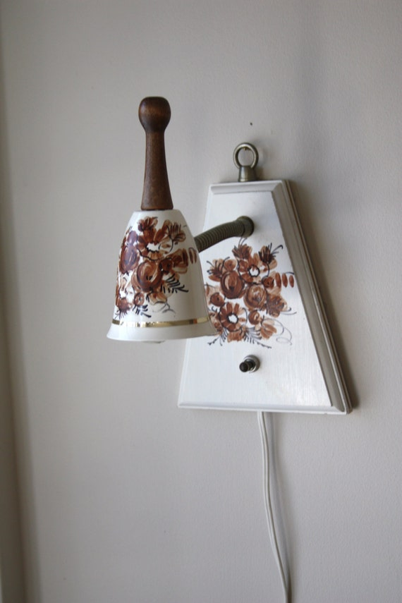 Wall Lights For Old Cottage : Vintage Cottage Bell Shaped Wall Light Task by Swhirlingdervish