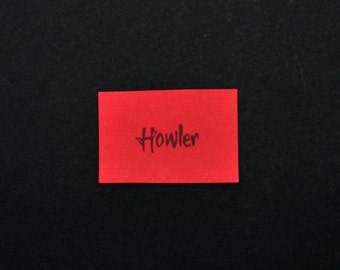 Howler Rubber Stamp, Hand Carved Red Rising Stamp