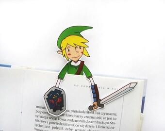 Legend of Zelda printable bookmark Link - birthday gift for him her friends digital nerdy boyfriend