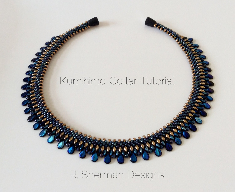 pdf tutorial kumihimo collar necklace kumihimo pattern