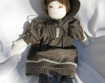 Handmade cloth prairike doll