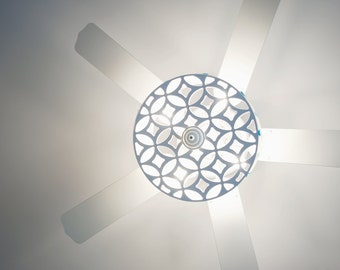 Pendant Light Cut Out Shade Diffuser in Moors Ellipse Pattern