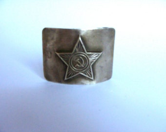 Vintage Soviet Military Buckle/ Brass Buckle/ USSR Soviet Army Soldier Buckle/ 1980' USSR