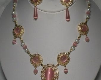 Princess Necklace and Earrings Renaissance Tudor Style