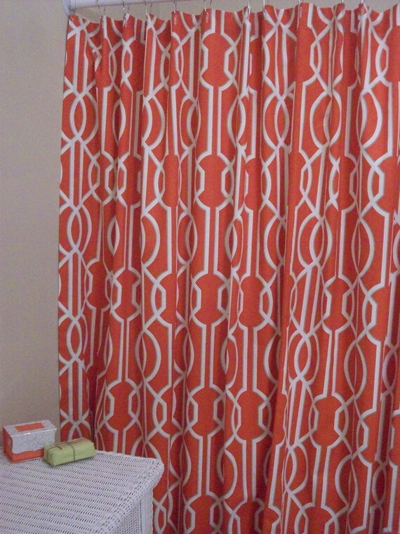 Extra Wide Shower Curtain Custom Bath Geometric Magnolia