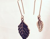 Asymmetrical Leaf Vintage Minimalist Earrings