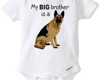 My Big brother is a German Shepherd Dog baby onesie dog shirt dog onesie Family pet big brother shirt Baby Shower Gift