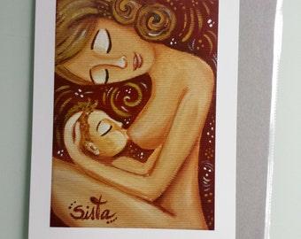 "Breastfeeding - High Quality Archival Print 24x17 cm ""Milky Love"" (matte paper)"