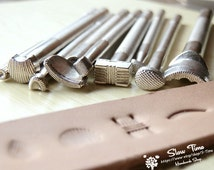9 Patterns DIY Leather Craft Tools Stamps Set, Leather Punches,Leather Carving for Leather Crafts,Belt,Wallet, Decor