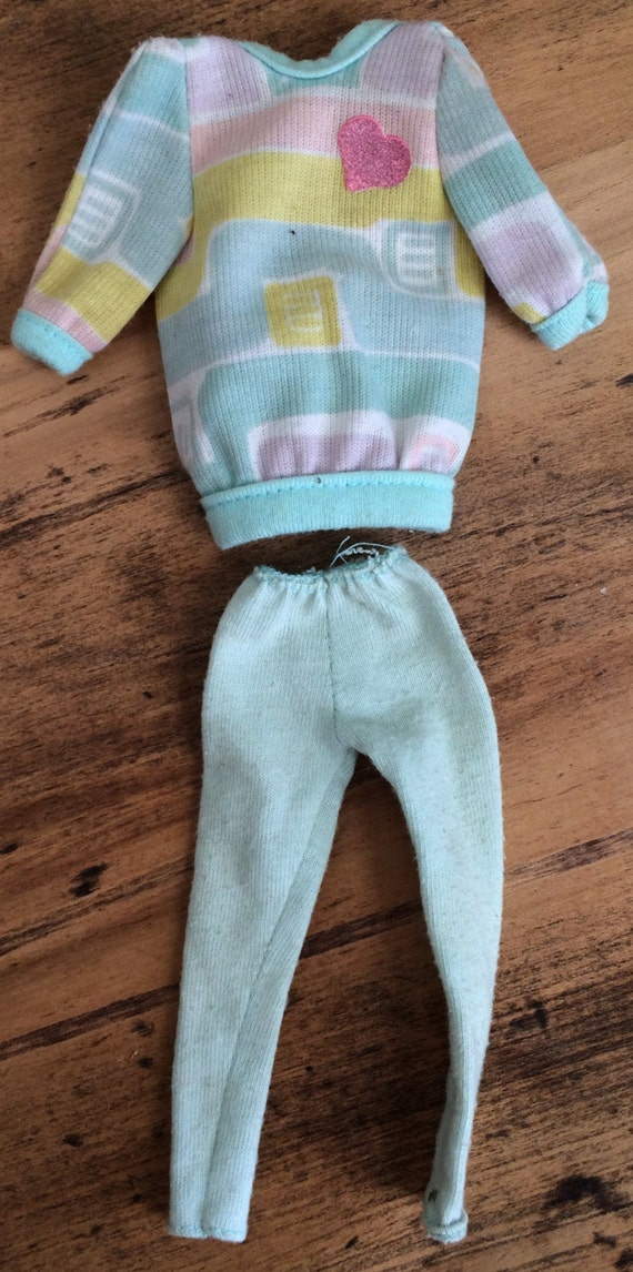 1980s vintage skipper barbie doll clothes loose sweater with tights