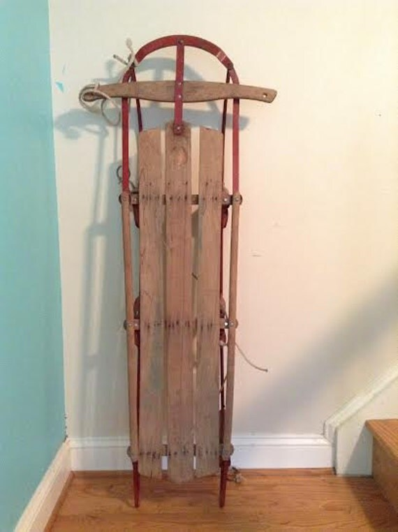 Vintage sled for decoration or use for Antique sled decoration