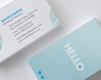 Hello Flower Business Card Design Template