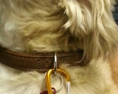 Buddy's Goldstone Rose Collar Aromatherapy Tag