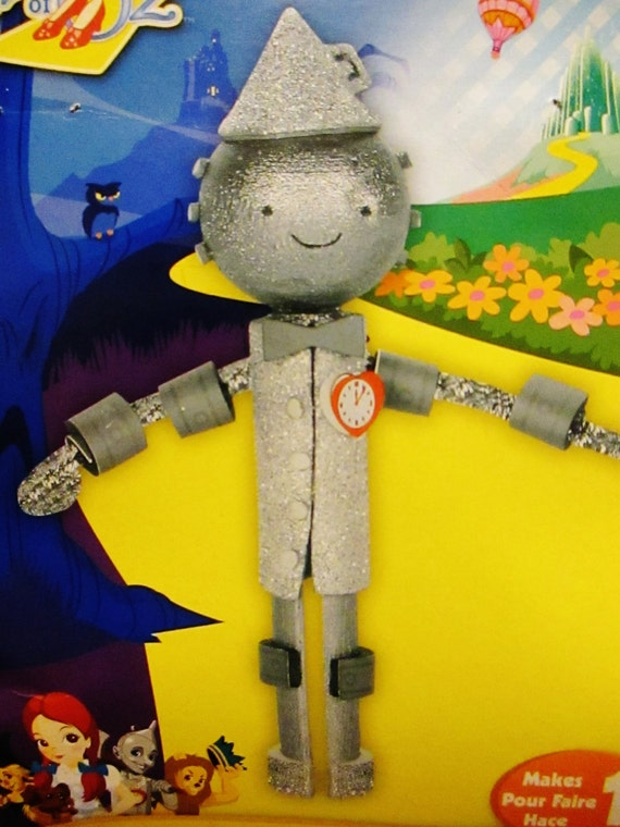 1 cloths pin doll kit wizard of oz tin man diy by for How to make a tin man out of cans