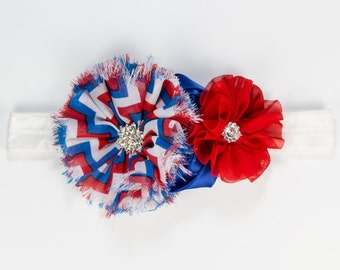 Patriotic 4th of July headband, Independence Day Headband,Patriotic Headband, Holiday Headband, Baby Girl Headband