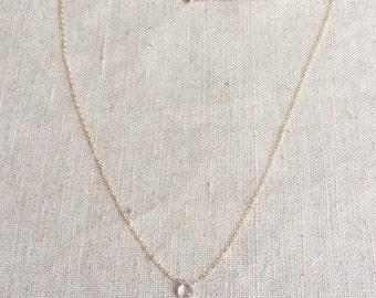 Rose Quartz Necklace - Rose Quartz Jewelry - Rose Quartz Crystal Necklace - Crystal Necklace - Tiny Crystal Necklace -  Tiny Rose Quartz