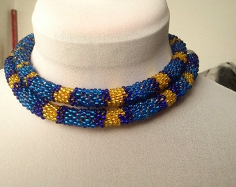 Blue Mamba, Beaded Rope, Snake