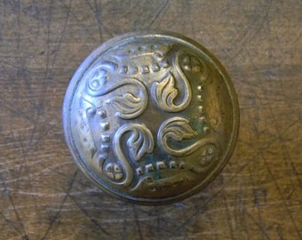 Lovely Antique Victorian Era Cast Brass Door Knob - Very Good Condition Ready For Re-Use