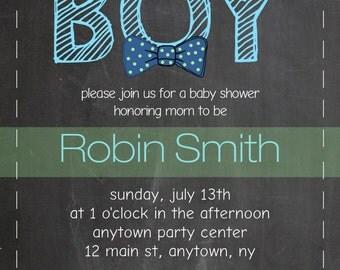 Custom Boy Baby Shower Invitation
