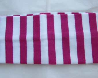 Headband With Stripes, Girls Hair Accessories, Pink Stripe Headband, Cotton And Spandex Headband, Stretch Fabric