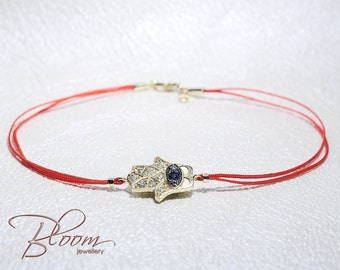 Yellow Gold Fatima Hand Red String Bracelet Kabbalah Hamsa Red String Bracelet Gold Red String Bracelet Kabbalah Red Sring - Bloom Red Wire