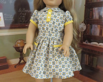 18 Inch Doll Clothes - 1930 Style Dress