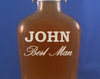 Personalized 16 ozSwing Top Flask-Groomsmen Gift-Wedding Party-Graduation-Tailgating Gift-Birthday-Fathers Day-Free Engraving-Engraved flask