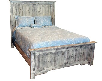 Bed, Queen, King, Headboard, Cottage, Reclaimed Solid Wood, Vintage Bedroom, Rustic