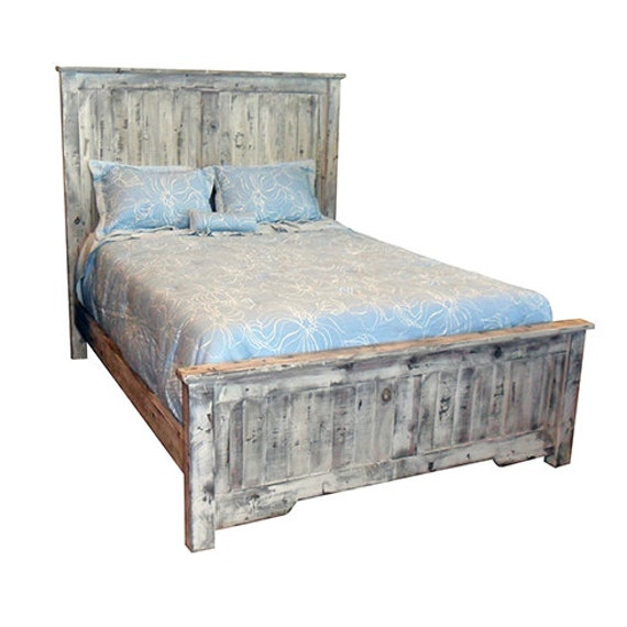 bed queen king headboard cottage reclaimed solid wood. Black Bedroom Furniture Sets. Home Design Ideas