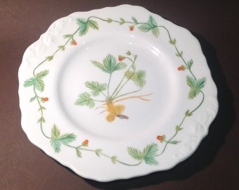 1940's Botanical Wild Strawberry Cake Plate by E Pench in 1885 (known as 'The Wimbledon Plate' in the Office!)